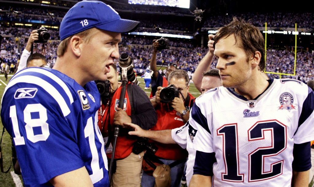 Peyton Manning and Tom Brady, both legends of the game